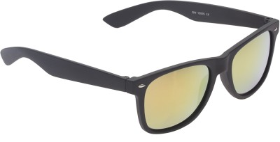 Vast UV Protection Premium Wayfarer Sunglasses(Golden) at flipkart