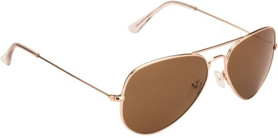 Vincent Chase Aviator Sunglasses(Brown)