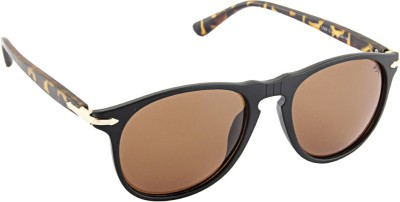 Farenheit Wayfarer Sunglasses(Brown) at flipkart