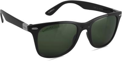 Laurels Wayfarer Sunglasses(Black) at flipkart
