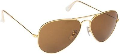 Zaira Diamond Aviator Sunglasses(Brown)