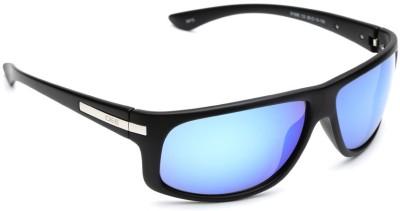 IDEE Wrap-around Sunglasses(Grey, Blue)