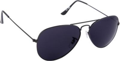 Gansta Aviator Sunglasses(Black) at flipkart