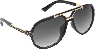 Zyaden Over-sized Sunglasses(Black) at flipkart