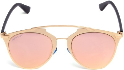 Chemistry CH013 C03 Oval Sunglasses(Pink) at flipkart