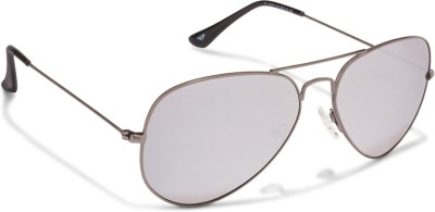 Vincent Chase Aviator Sunglasses(Silver)