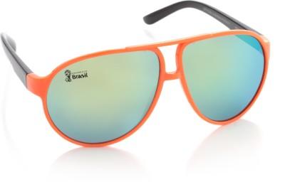 FIFA FB-S-107 Aviator Sunglasses(Green) at flipkart