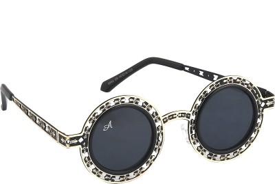 Amaze Round Sunglasses(Black)