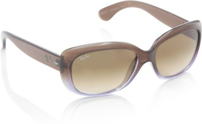 Ray-Ban Rectangular Sunglasses(Brown) at flipkart