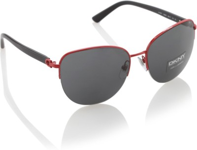 DKNY Round Sunglasses(Black) at flipkart