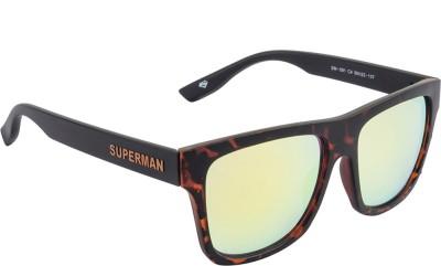 Superman Wayfarer Sunglasses(Golden) at flipkart