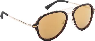 Farenheit Aviator Sunglasses(Golden) at flipkart
