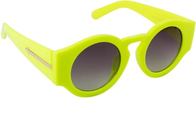 Farenheit Round Sunglasses(Grey) at flipkart