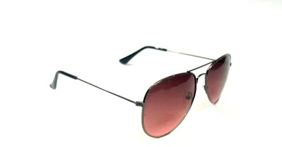 Fashionext Aviator Sunglasses(Pink) at flipkart