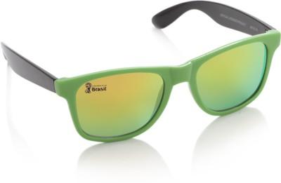 FIFA Wayfarer Sunglasses(Orange, Green) at flipkart