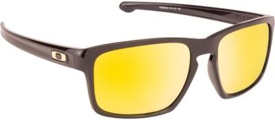 Oakley Wayfarer Sunglasses(Brown, Golden)