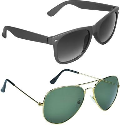 3ab0fba5f599 Cruze Combo Wayfarer Aviator Sunglasses Black Black Best Price in ...