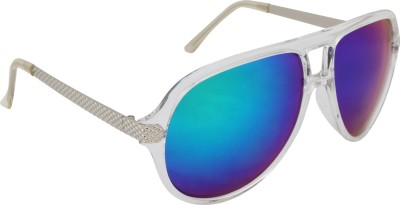 DENLEY Aviator Sunglasses(Blue)