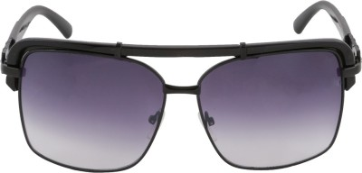 Petrol Rectangular Sunglasses(Violet) at flipkart