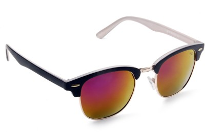 Vast Wayfarer Sunglasses(Golden) at flipkart