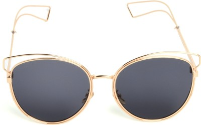 Chemistry Round Sunglasses(Grey) at flipkart