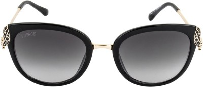 VOYAGE Cat-eye Sunglasses(Black)