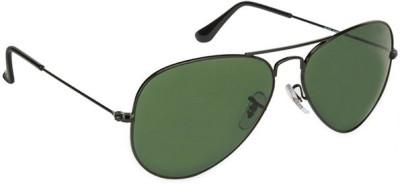 Zaira Diamond Aviator Sunglasses(Green)