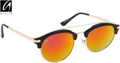 Aislin Round Sunglasses(Pink, Green) at flipkart