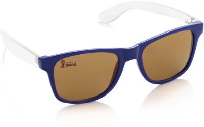 FIFA Wayfarer Sunglasses(Brown) at flipkart