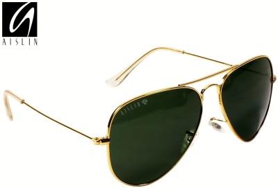 Aislin Aviator Sunglasses(Green)