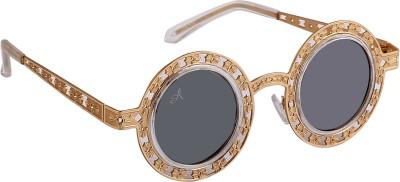 Amaze Round Sunglasses(Silver)