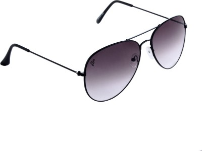 The Blue Pink Aviator Sunglasses(Black) at flipkart