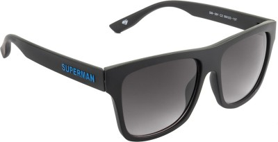 Superman Wayfarer Sunglasses(Grey) at flipkart
