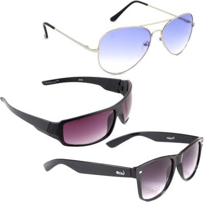Elligator Aviator, Sports, Wayfarer Sunglasses(Multicolor) at flipkart