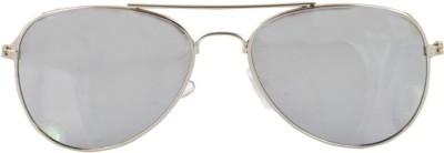 Alpha Man 11_SG_SG_00014 Aviator Sunglasses(Silver)