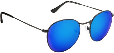 Vincent Chase Round Sunglasses(Blue)