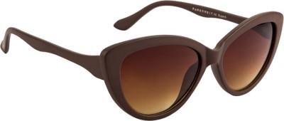 Farenheit Cat-eye Sunglasses(Brown) at flipkart