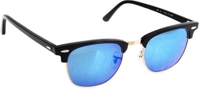 Zaira Diamond Oval Sunglasses(Blue)