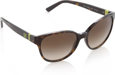 DKNY Round Sunglasses(Brown) at flipkart