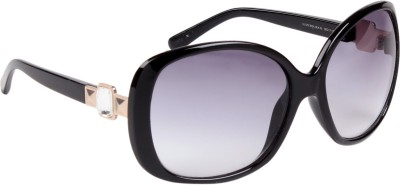 Guess GUESS2013 HOL BLK 35 Over-sized Sunglasses(Grey) at flipkart