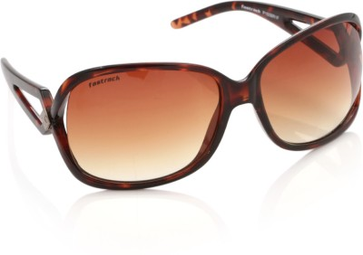 Fastrack Over-sized Sunglasses(Brown)  available at flipkart for Rs.2045