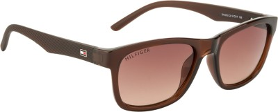Tommy Hilfiger Wayfarer Sunglasses(Brown) at flipkart
