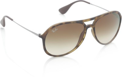 cbc374fb515 20% OFF on Ray-Ban Aviator Sunglasses(Brown) on Flipkart ...