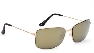 IDEE Rectangular Sunglasses(Grey, Golden)