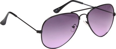 Ted Smith Aviator Sunglasses(Violet) at flipkart
