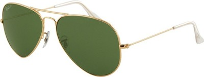 RB Aviator Sunglasses(Green) at flipkart