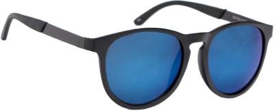 Ted Smith TS JS11003 M.BLK BLU MIRR Cat-eye Sunglasses(Blue)