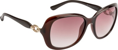 Farenheit Oval Sunglasses(Violet) at flipkart