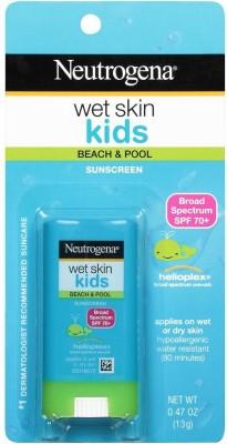Neutrogena Wet Skin Kids Beach & Pool Sunscreen Broad Spectrum SPF 70+, 13 g