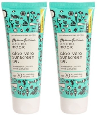 Aroma Magic Aloe Vera Sun Screen Gel - SPF 20 PA++(200 g)  available at flipkart for Rs.472